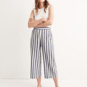 Madewell Huston Pull-on Crop Pants in Stripe
